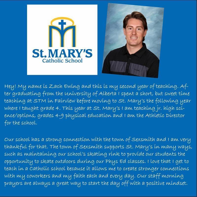 St. Mary's Catholic School: Zach Ewing Featured Photo
