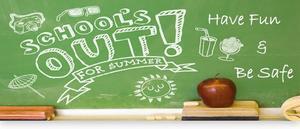 School's Out chalkboard clipart
