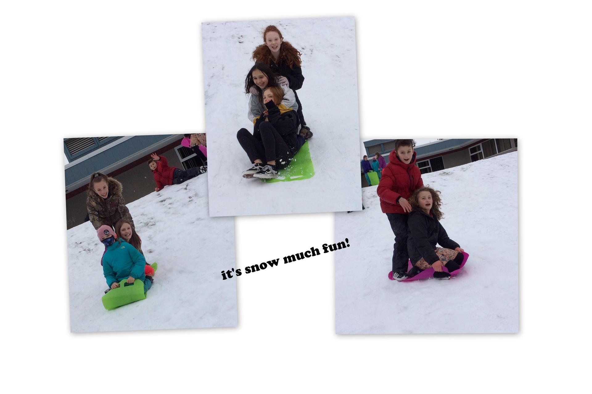 It's snow much fun sledding