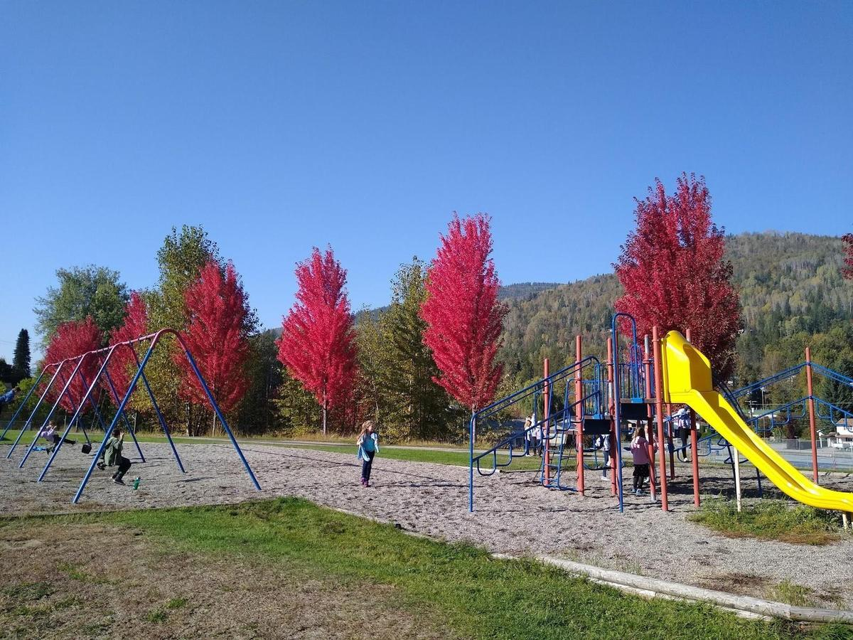playground in fall