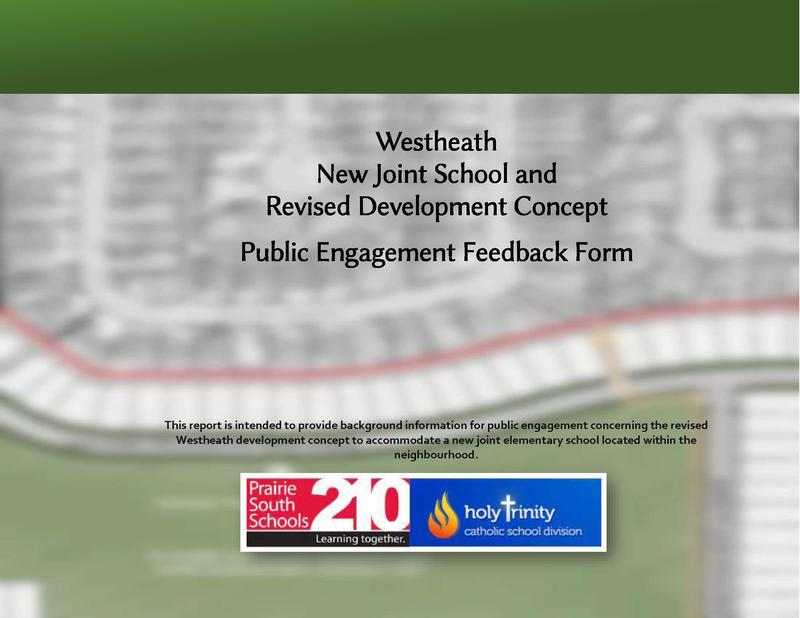 Westheath New Joint School and Revised Development Concept Public Engagement Feedback Form Featured Photo