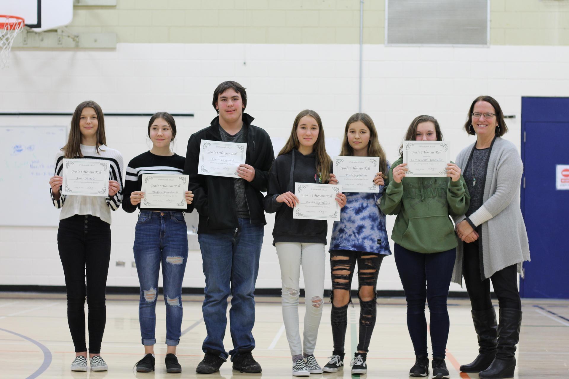 Grade 8 student awards