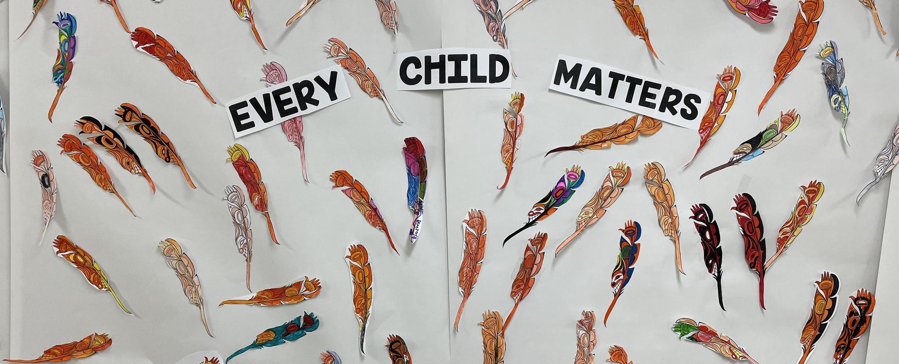 Every Child Matters bulletin board