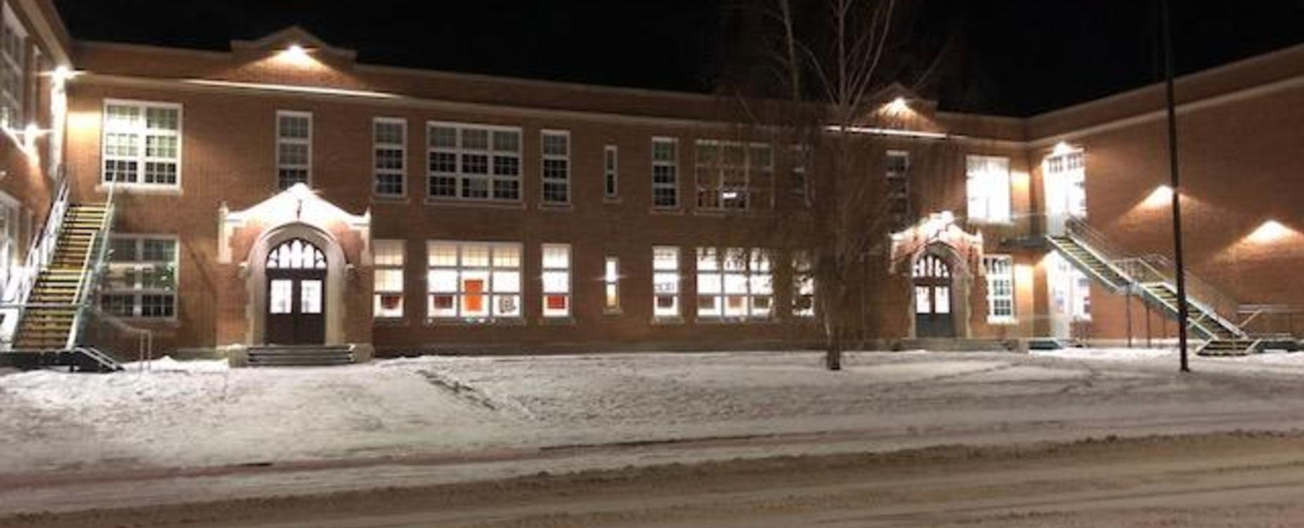 Mackenzie Middle School night view