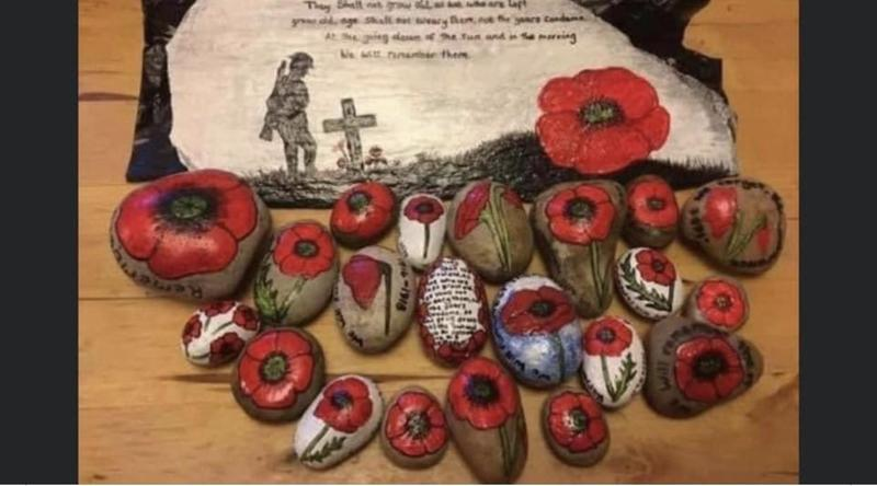 Remembrance Day Rock Garden Project