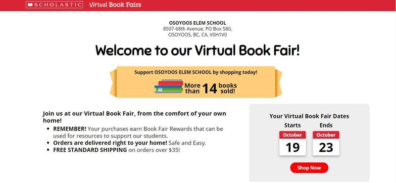 OSOYOOS ELEMENTARY VIRTUAL BOOK FAIR - Now On!! Featured Photo