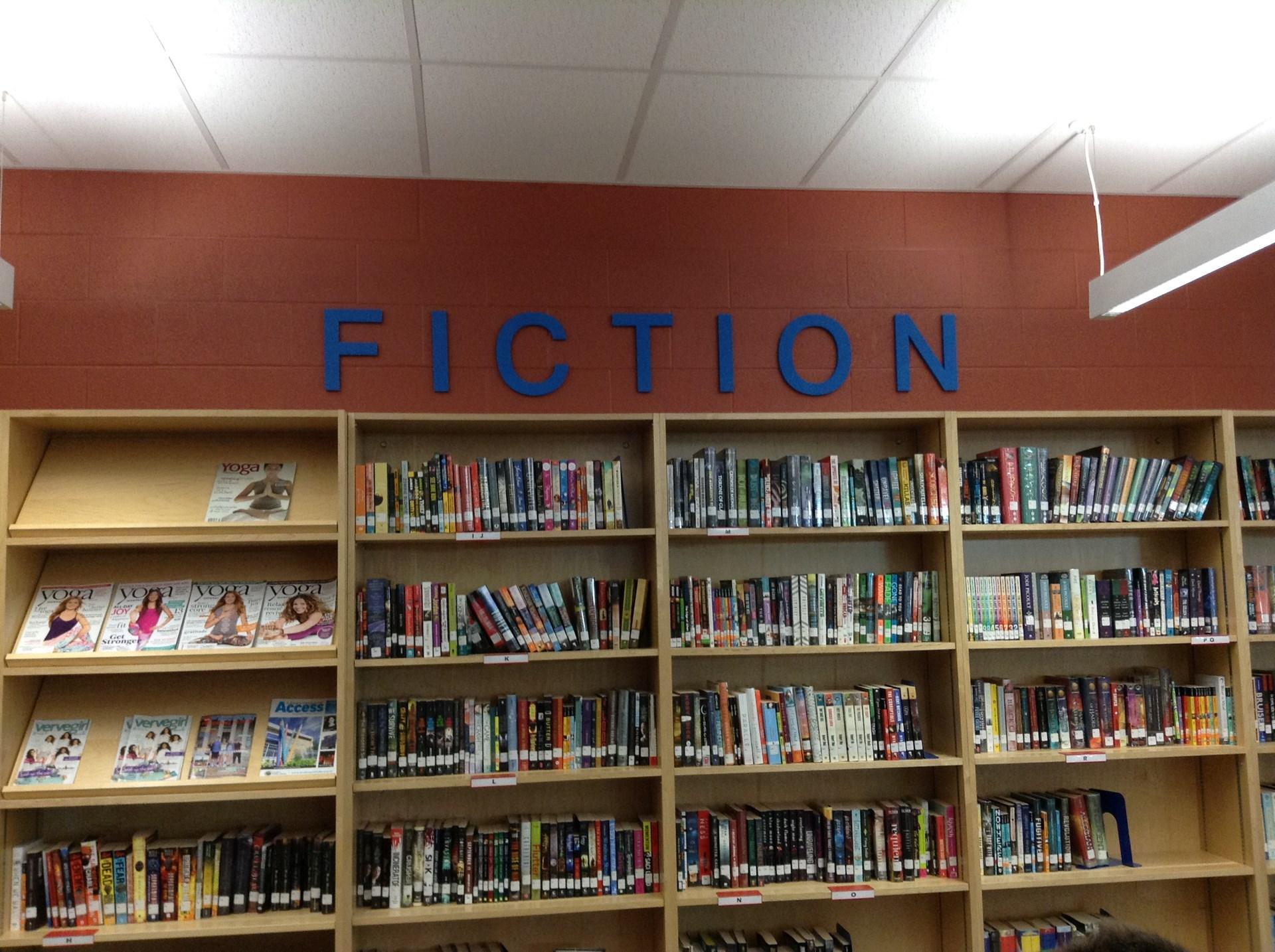 Fiction book shelf