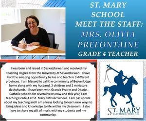 St. Mary (Beaverlodge): Olivia Prefontaine Featured Photo