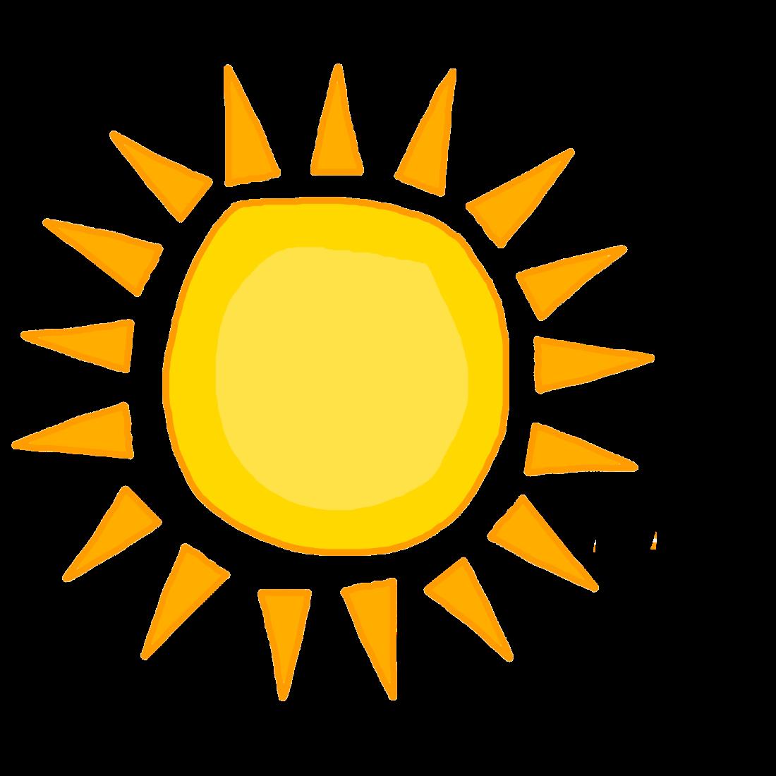 a cartoon sun