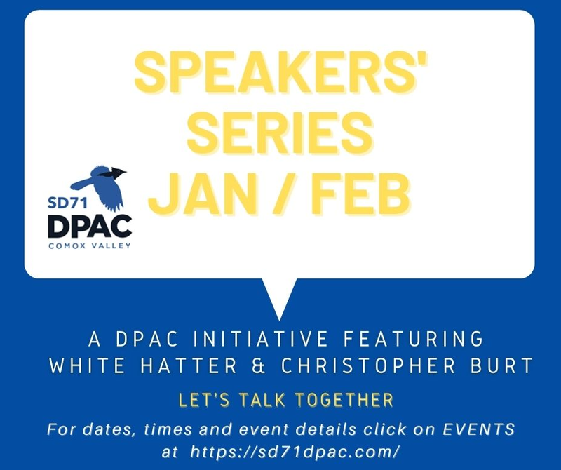 District Parent Advisory Council (DPAC) Speaker Series (click here for more info) Featured Photo