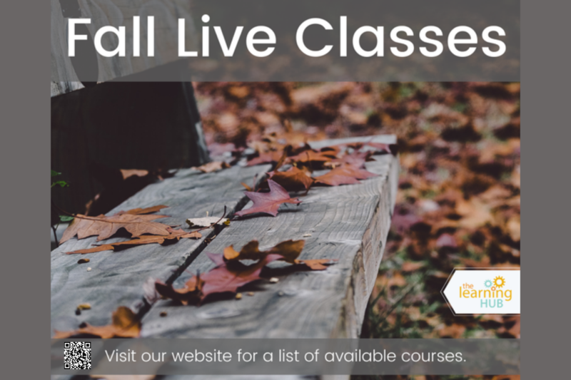 The LearningHUB Fall Live Class Registration is now open.  Check out the courses we are offering or request to join one at: http://ow.ly/gNeu50G93ra