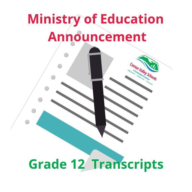 UPDATE - Grade 12 Transcripts Announcement Featured Photo