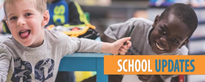 School updates website banner