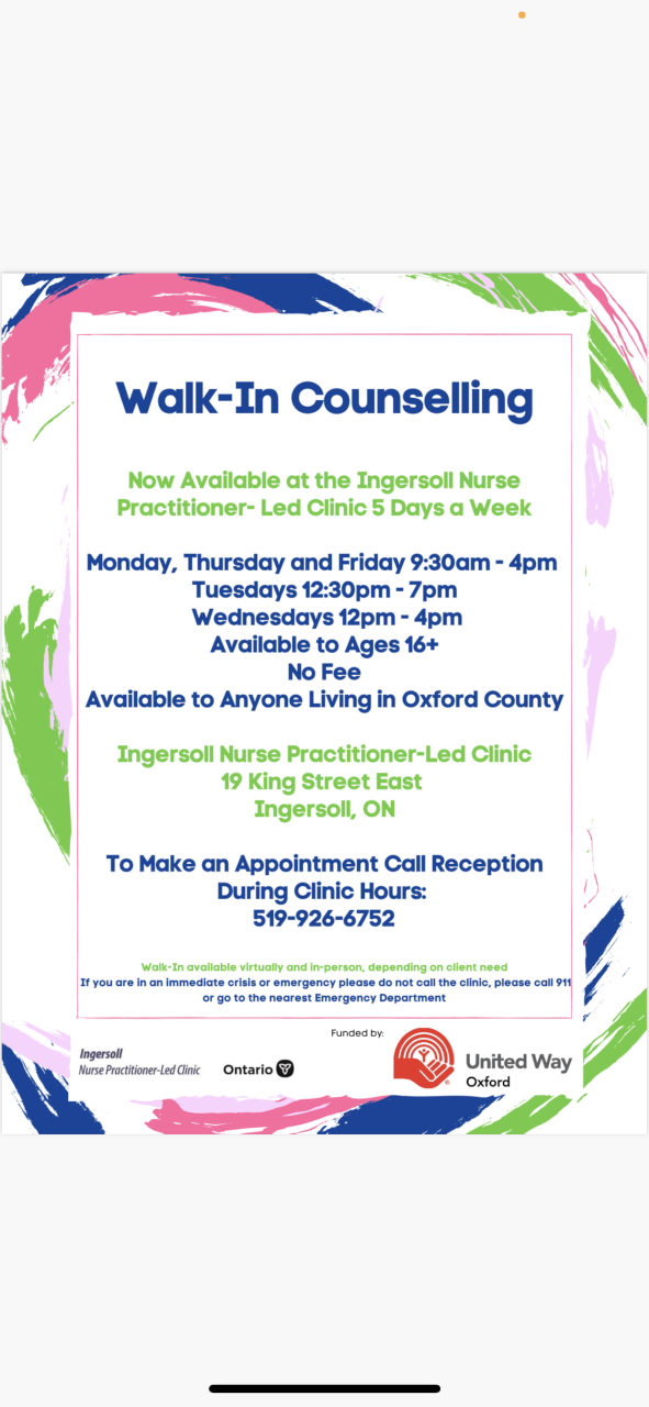 Counselling in Ingersoll