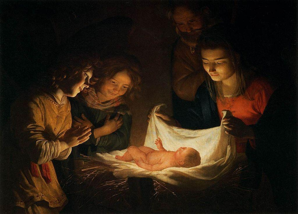 Adoration of the Child - van Honthorst (modified)