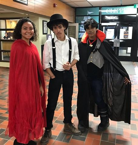 Three Students from the DRCSS dressed in costume