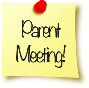 Parent Meeting on a sticky note