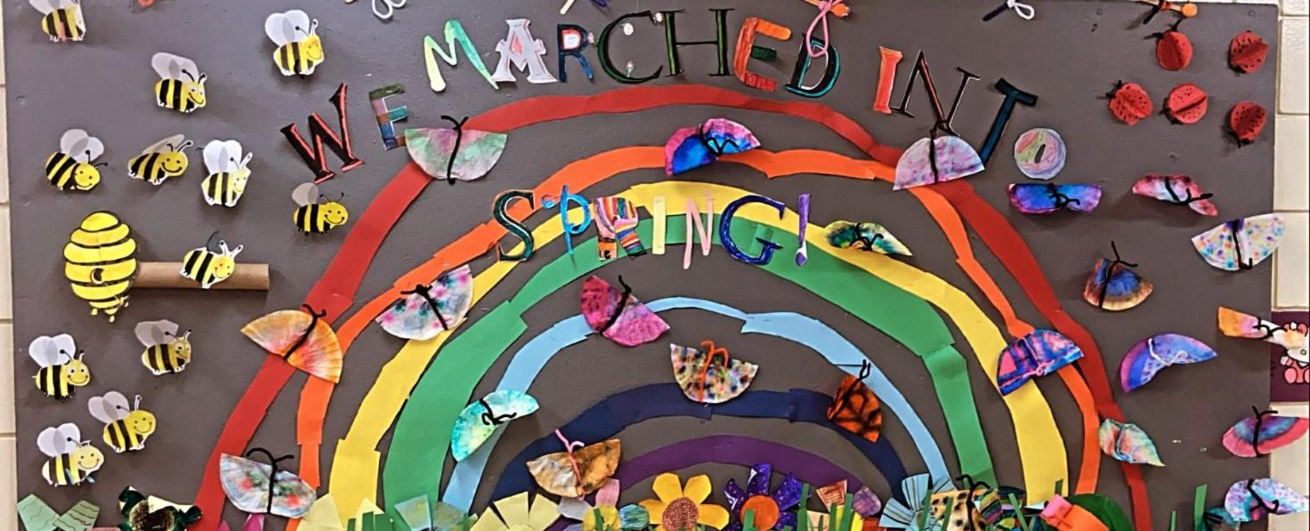 We Marched into Spring Bulletin Board