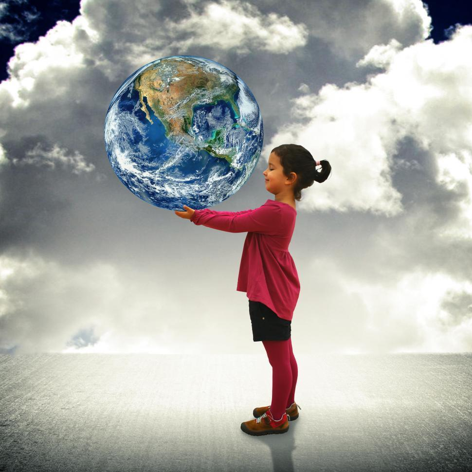 kid with earth