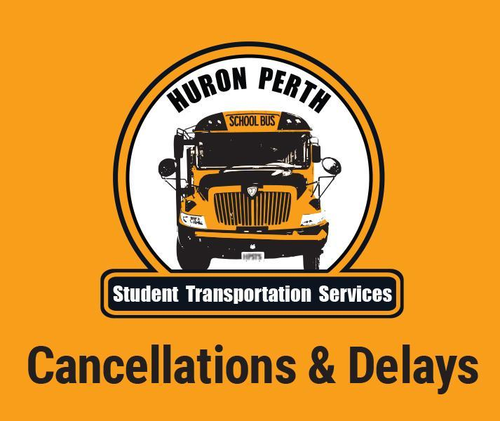 Yellow background with school bus in the middle with the text