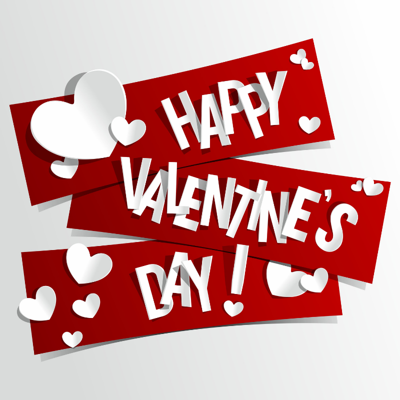 Happy Valentine's Day graphic text