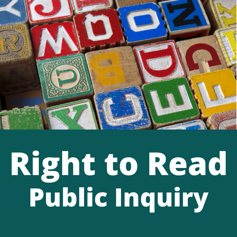 Right to Read Public Inquiry