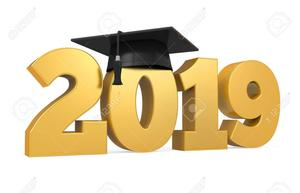 2019 with grad cap on it.