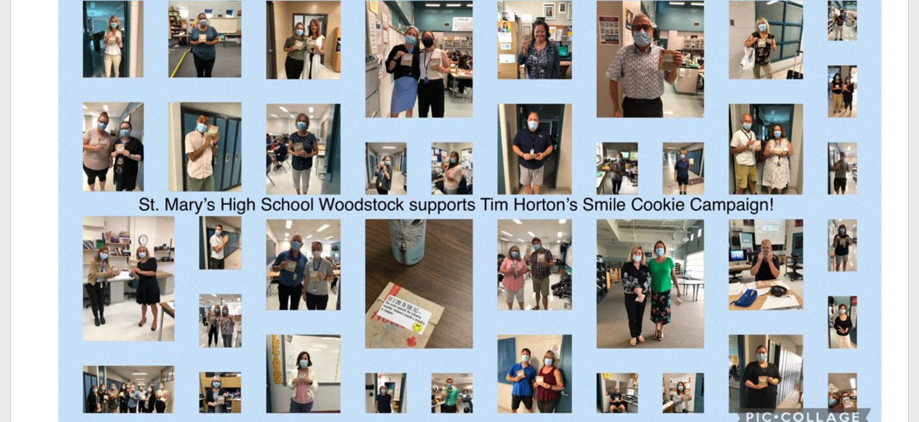 Tim Hortons smile cookie day at SMHS