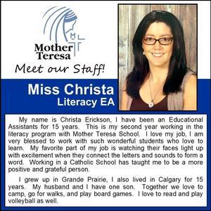 Mother Teresa: Christa Erickson Featured Photo