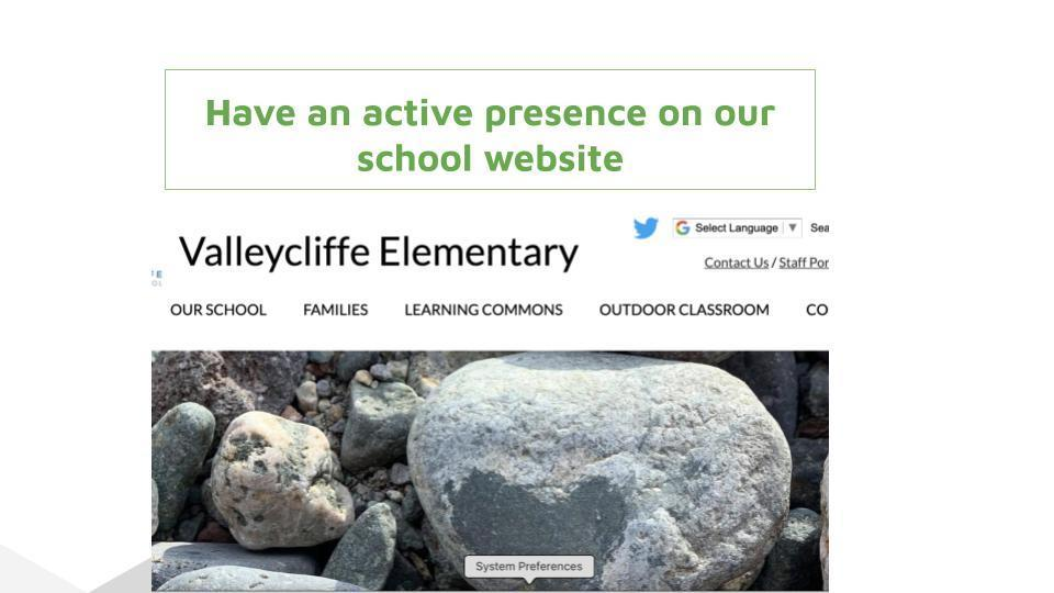 Have an active presence on our school website