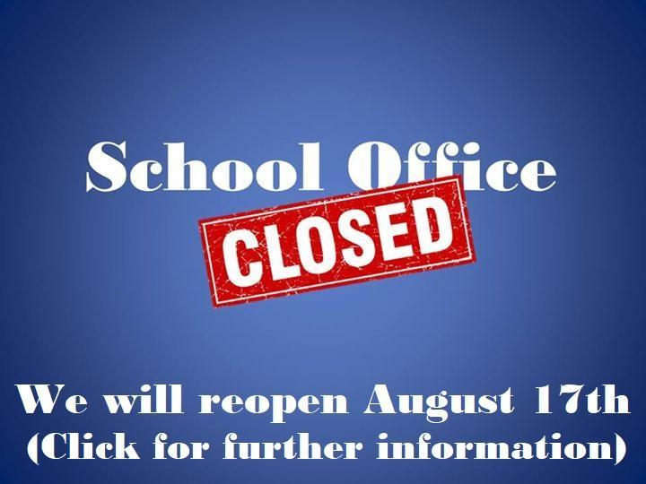 School Office Closed Featured Photo