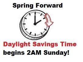spring forward March 14th