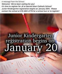 Kindergarten Registration begins January 20th!