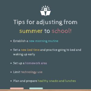 summer to school tips