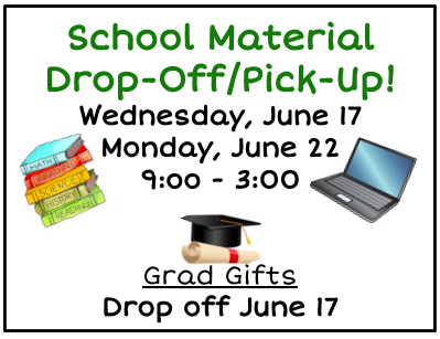 School Material Drop-Off/Pick-Up Featured Photo
