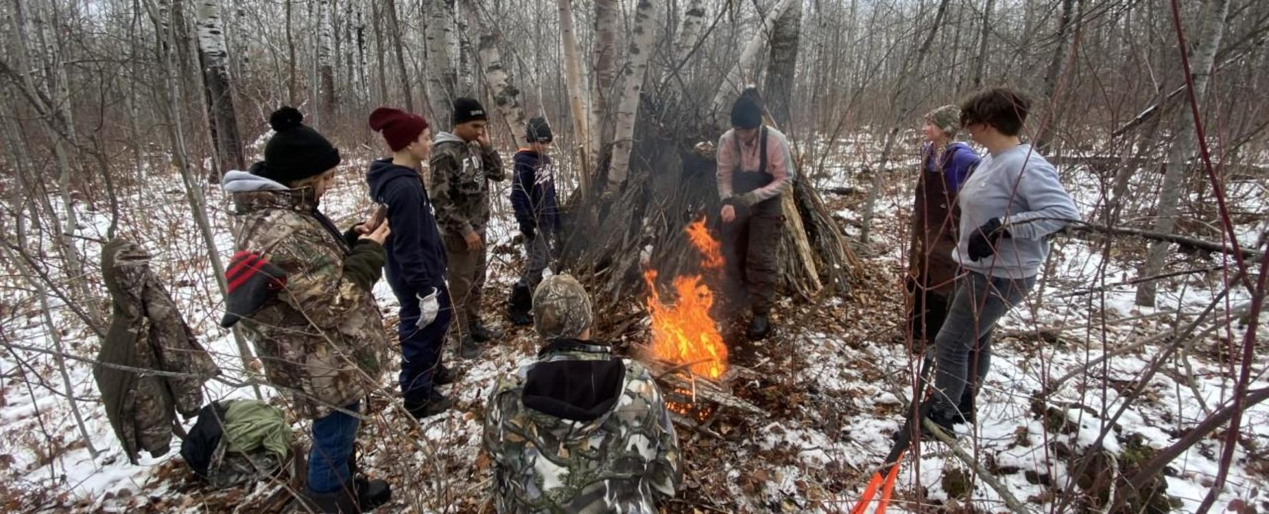 Students in DRCSS Wilderness Class