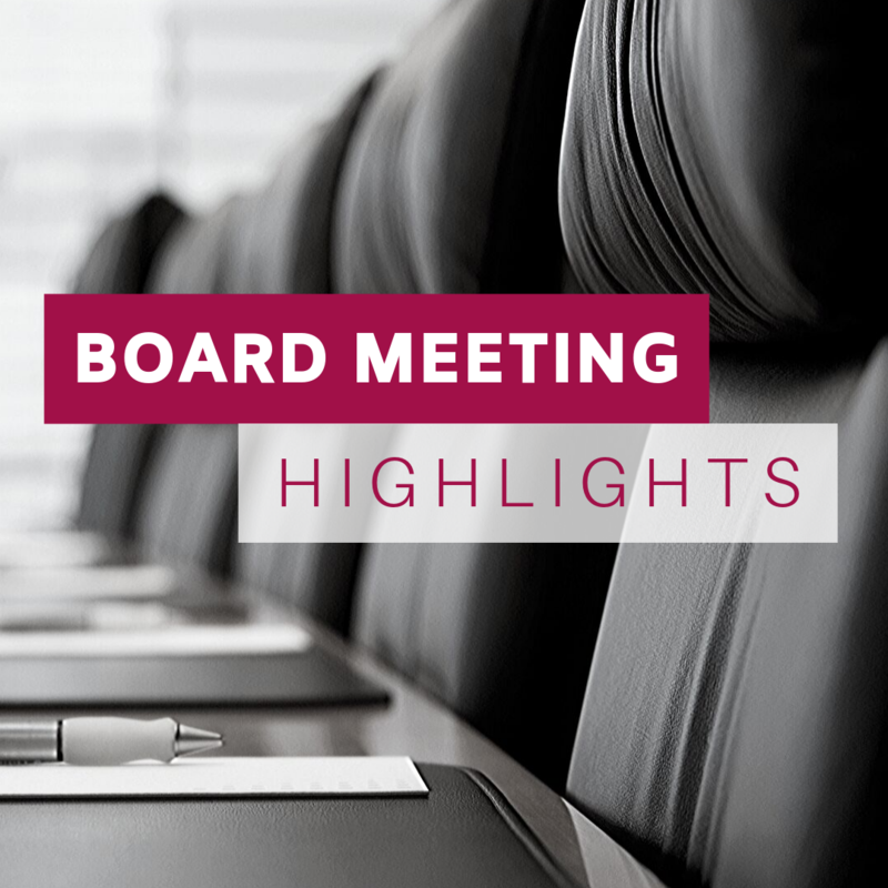 Board Highlights