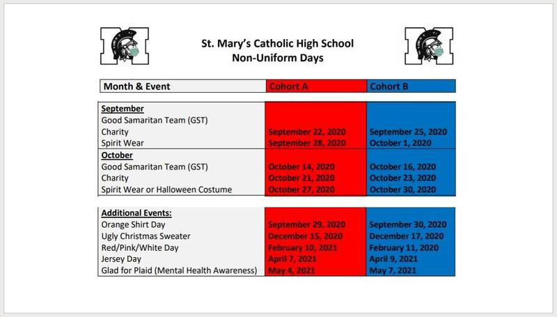 non uniform days for september and october