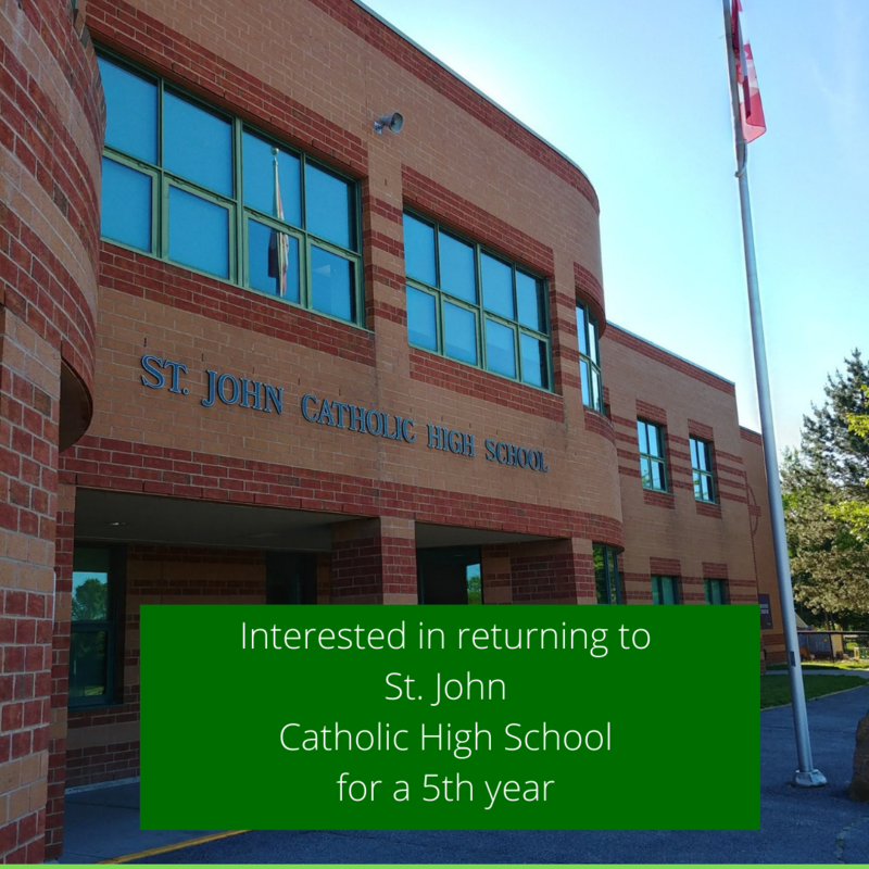 Interested in returning to St. John Catholic High School for a 5th year? Featured Photo