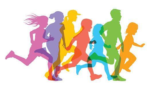 clip art of people running