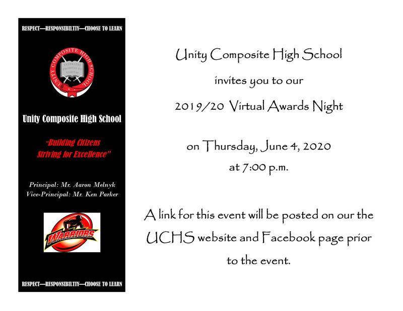 UCHS Virtual Awards Night Featured Photo