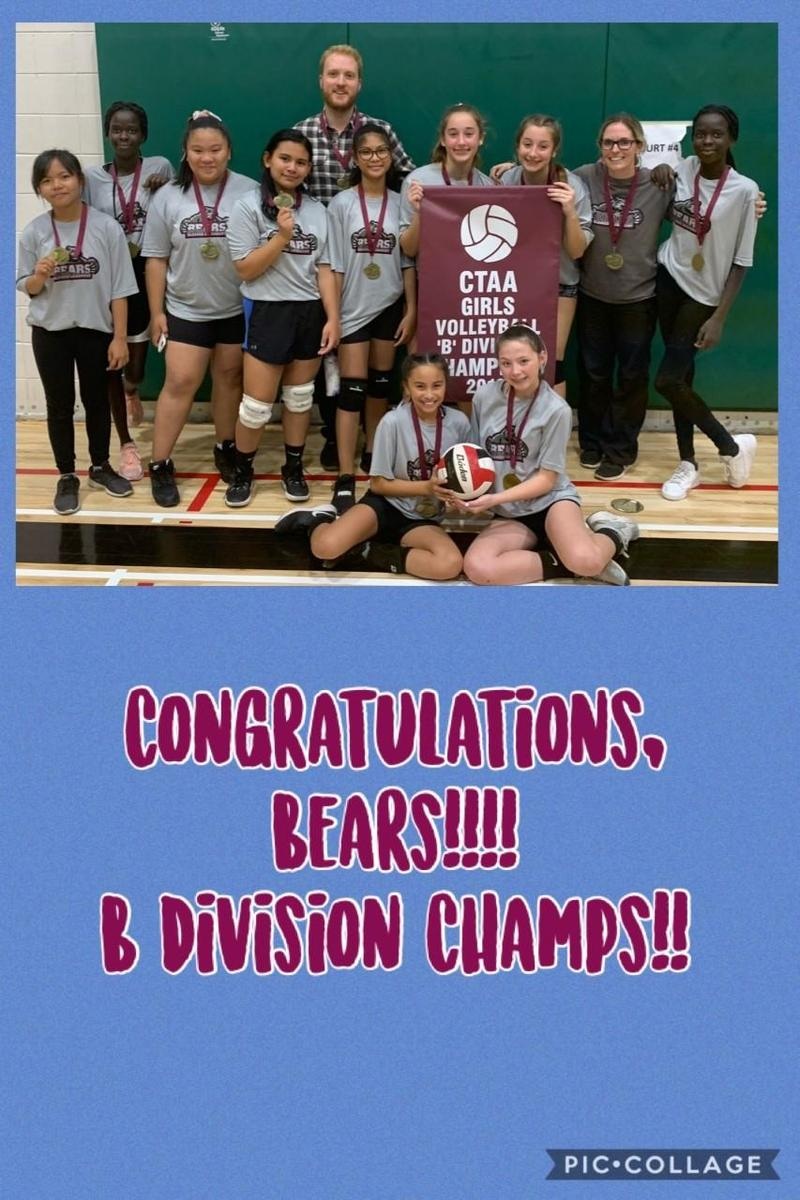Congratulations SR Girls Volleyball..Bears Are Proud!