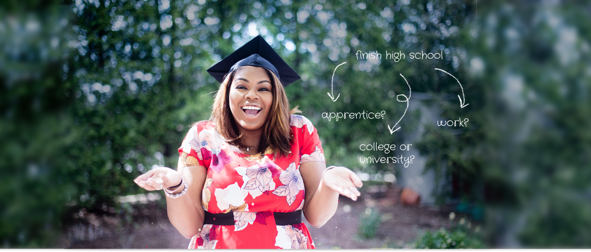 A graduate considering their choices