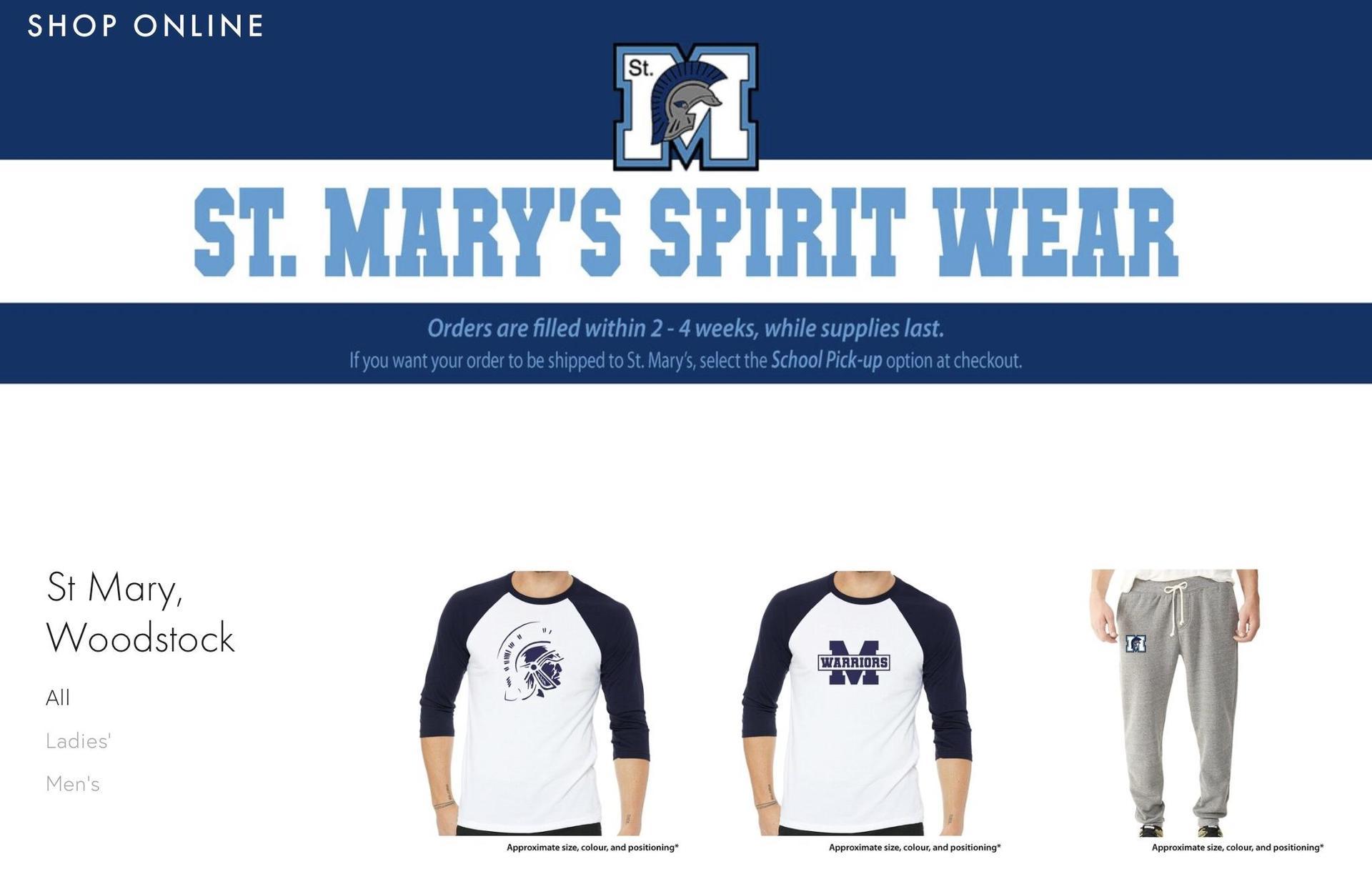 SMHS Spirit Wear online shop