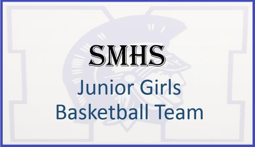saint Marys logo with junior girls basketball text