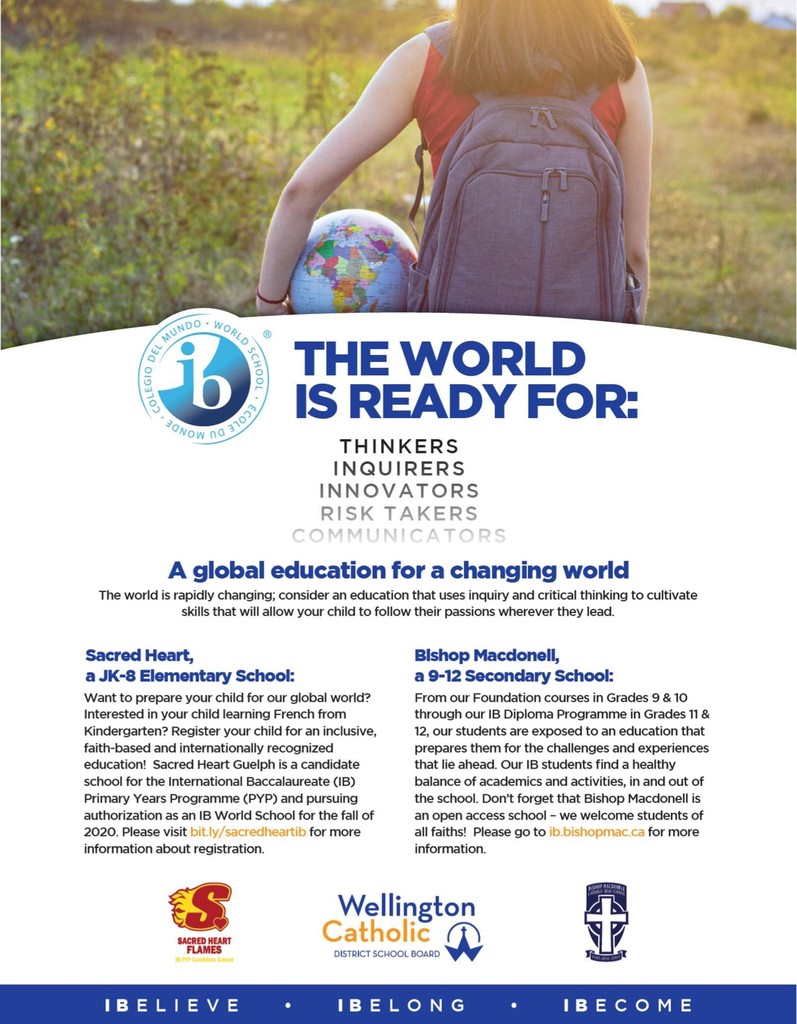 The World is Ready for IB Students - Advertisement