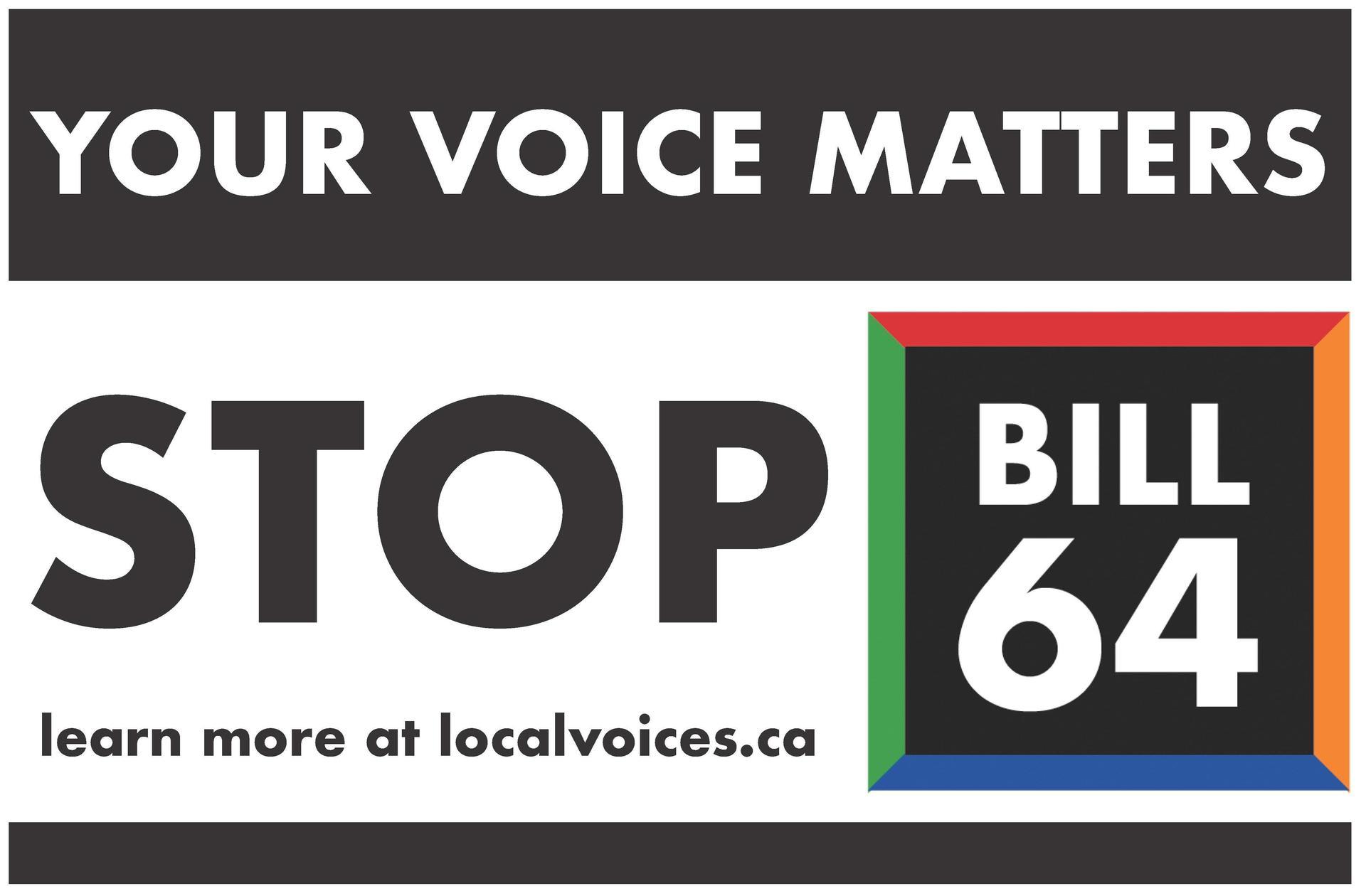 Stop Bill 64