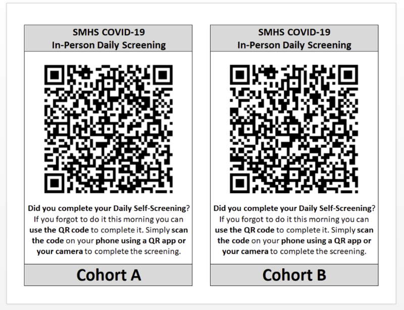 QR code for students daily covid screening