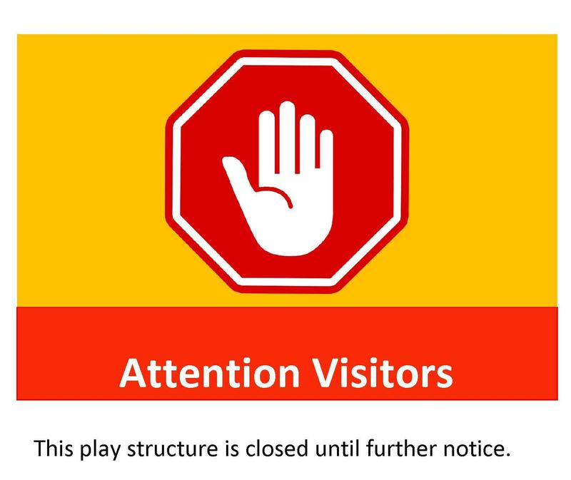 Sign with stop sign (with hand inside) and the words