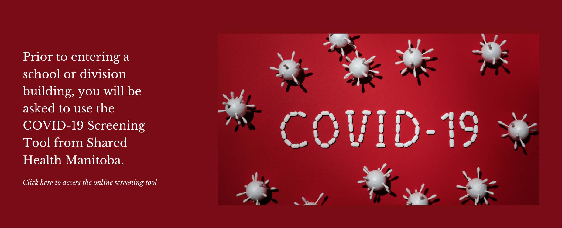 Shared Health screening tool - COVID-19